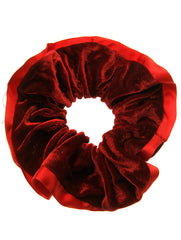 Red Velvet Finish Scrunchie Hair Accessory