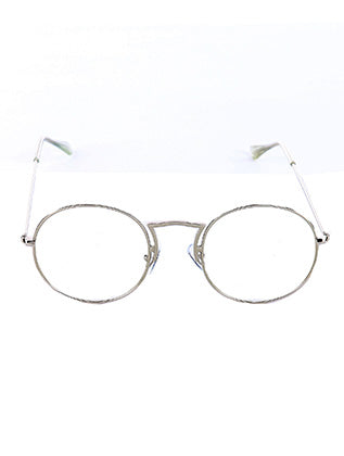 Sliver Round Clear Lens Sunglass Image#2