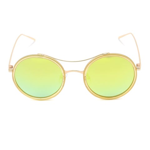 Round Sunglasses with Metal Arms