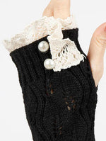 Black Laced Top Hand Wrist Warmer General Merchandise Image#2