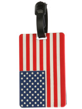 Mulit Color American Flag Rubber Bag Tag General Merchandise