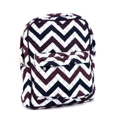 Chevron Print Quilted Classic Backpack