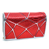 Image of Croco Patch Chrome Clutch