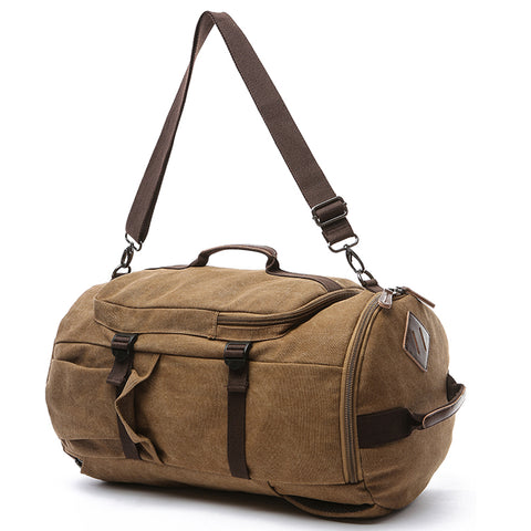 Dasein Vintage Unisex Canvas Multi-purpose Bag- Backpack Travel or Hiking Rucksack