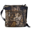 Image of Faux Patent Buckle Messenger Bag with Croc Trim