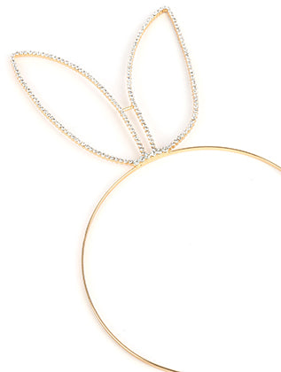 Clear Bunny Ears Metal Headband Hair Accessory Image#2