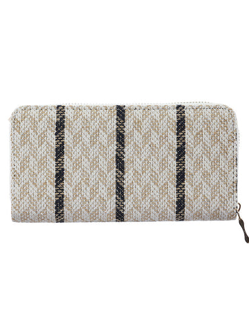 Mulit Color Tribal Pattern Woven Clutch Wallet Bag Accessory