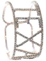 Clear Pave Crystal Stone Texas Cuff Bracelet