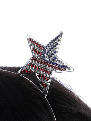 Mulit Color Star Flag Metal Headband Hair Accessory Image#2