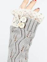 Gray Laced Top Hand Wrist Warmer General Merchandise Image#2