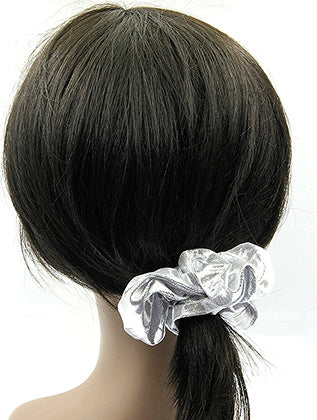Sliver Shiny Scrunchie Hair Accessory Image#2