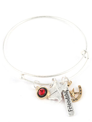 Red State Of Texas Charm Bracelet Image#2