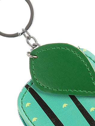 Green Vinyl Cactus Pouch Bag Accessory Key Chain Image#2
