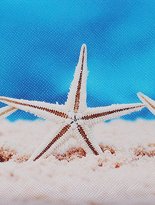 Mulit Color Starfish Print Vinyl Clutch Wallet Bag Accessory