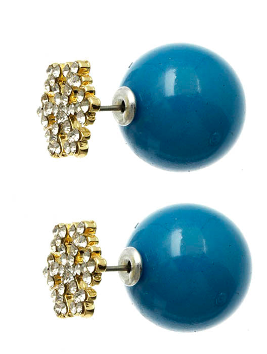 Blue Snowflake Double Sided Earring