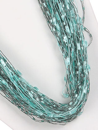 Mulit Color Multi Strand Yarn Fashion Necklace - HAF249010QMLT