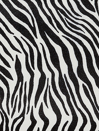 Black and White Zebra Print Vinyl Clutch Bag Accessory