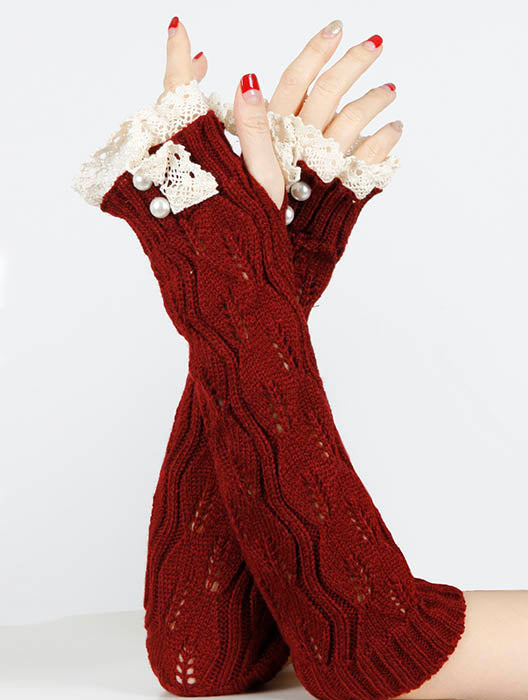 Burgundy Laced Top Sleeve General Merchandise