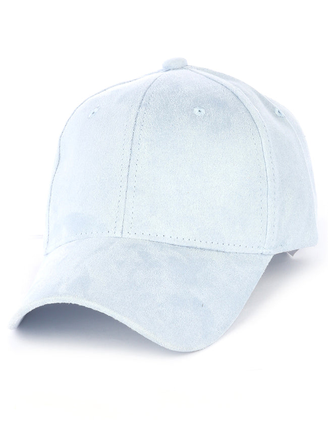 Blue Faux Suede Velcro Hat And Cap