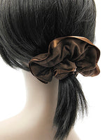 Brown Microfiber Finish Scrunchie Hair Accessory Image#2