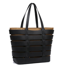 Dasein 2-In-1 Medium Striped Tote