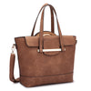 Image of Dasein® 2 in 1 Faux Leather Bag Combination of Mini Satchel and Tote