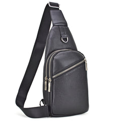 Faux Leather Messenger/ Cross body Bag/ Sling Pack/ Chest bag/Mini backpack