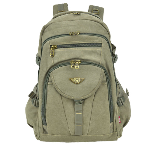 Men's Outdoor Vintage Canvas Adventure/Travel/Camping/Hiking/School Backpack/Rucksack