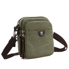 Dasein Mini Vintage Unisex Canvas Messenger Bag/Cross body