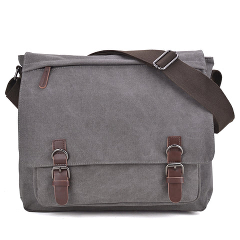 Dasein Vintage Unisex Large Canvas Messenger Bag/Cross body