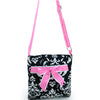 Image of Quatrefoil Print Quilted Messenger Bag