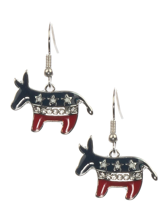 Mulit Color Epoxy Coated Metal Donkey Charm Fashion Earring - MME24751RDMLT