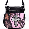 Image of Mossy Oak® Camo Rhinestone Western Cross Messenger Bag w/Faux Buffalo Trim