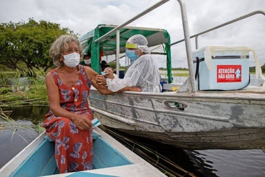 Vaccinations in the Amazon Rainforest in Brazil