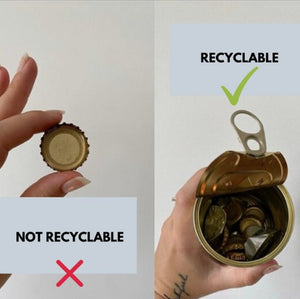 How to recycle bottle tops and other items by from belo