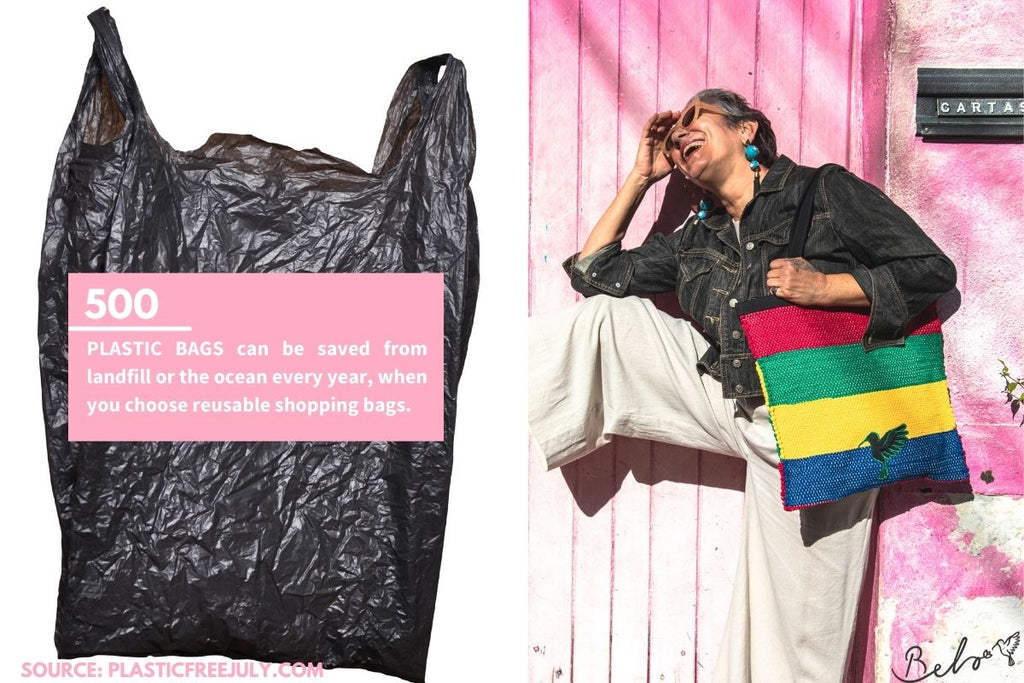 reuasable plastic bags to help reduce plastic pollution