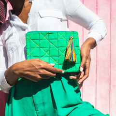 Recycled sustainable ethical Fabric Ligia Pouch by From Belo