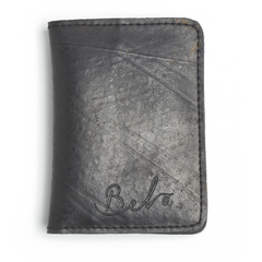 Ethical and recycled tyre and umbrella black slim line wallet