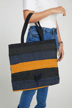 Blue & Gold Cida Shopper Bag