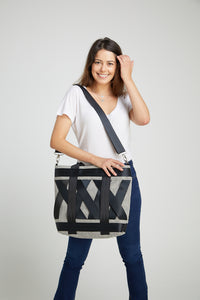 Black and White Leka Tote Bag