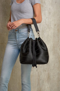 Black Ju Bucket Bag for women - From Belo
