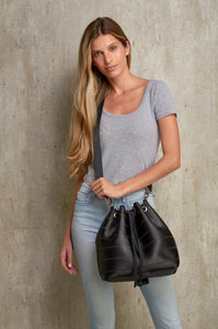 Black Bucket Bag online UK - From Belo