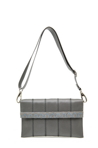 Grey BomBom Clutch Bag