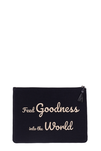 Black Sonia Large Clutch Bag Pouch