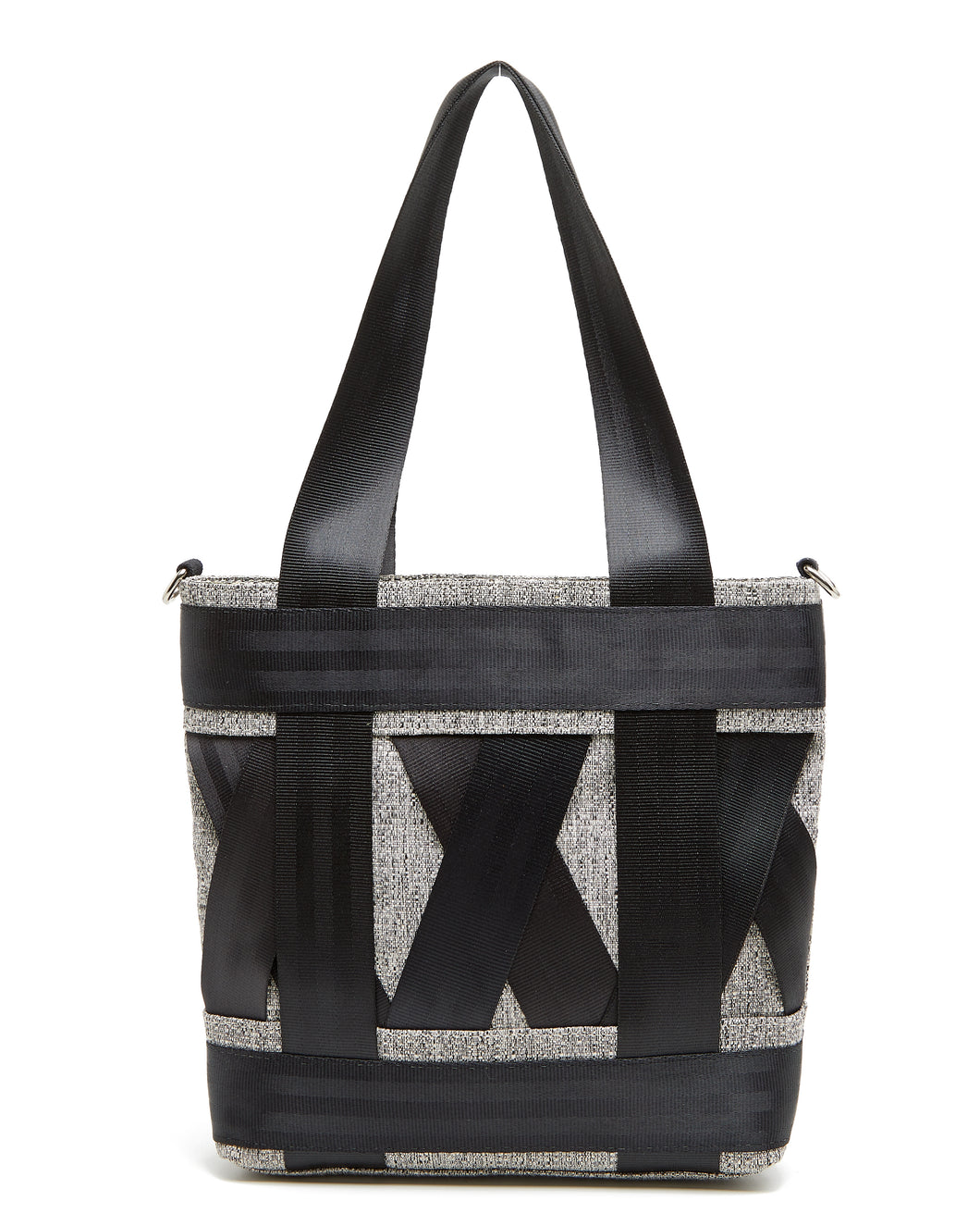 Mini Black and White Leka Tote Bag