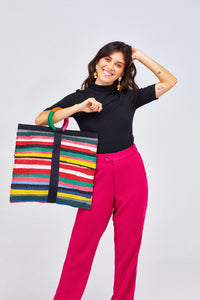 Rainbow Lucia Tote Bag