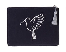 Black and Silver Small Recycled Plastic Makeup Pouch Bag - From Belo