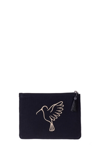 Black Sonia Small Makeup Pouch