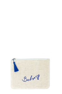 Blue Sonia Small Makeup Pouch