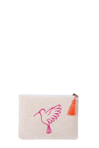 Pink & Orange Sonia Small Makeup Pouch